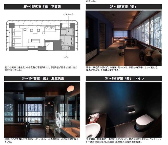 TOTOで公開されている星のや東京の資料