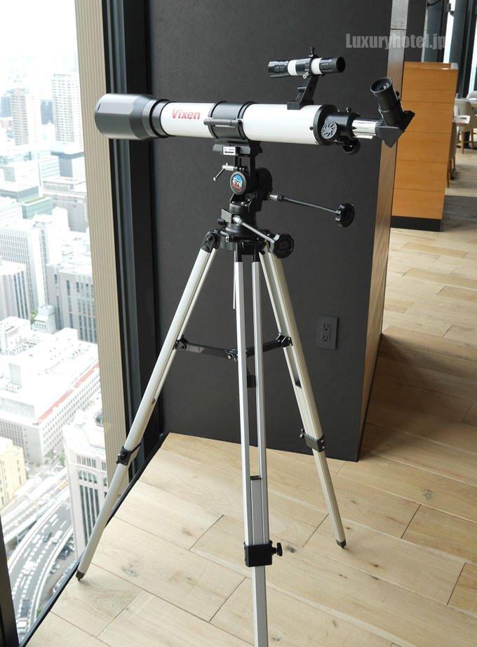 望遠鏡があり景色を楽しめる