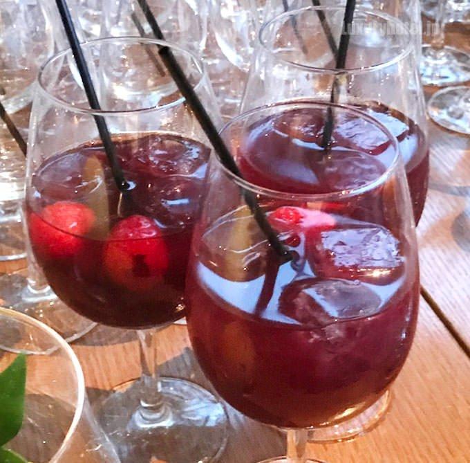 赤ワインのサングリア