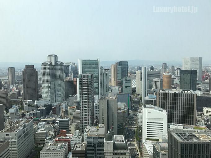 コンラッド大阪の部屋からの景色