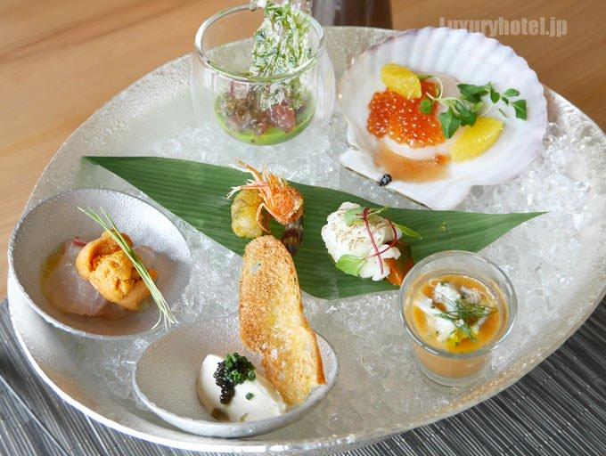「旬の魚介セレクション」4000円