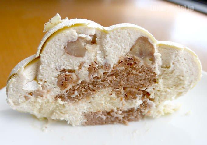ケーキ「KUMO」断面図