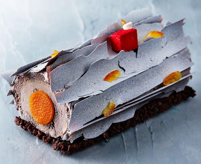 オレンジとチョコレートのブッシュ ド ノエル 公式画像