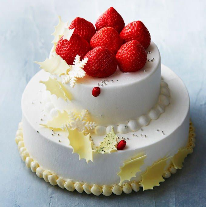 マンダリン オリエンタルのクリスマスショートケーキ『あまおう』 公式画像