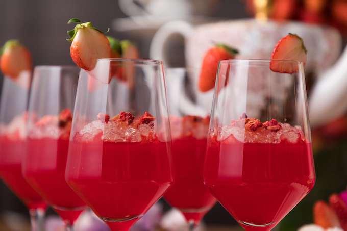 ストロベリー&シャンパンゼリー