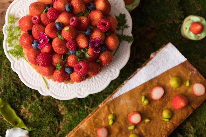 苺とピスタチオのミルフィーユ