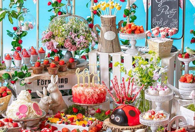 「いちごに恋するガーデンパーティー」~ストロベリーデザートブッフェ~お花畑でつかまえて!