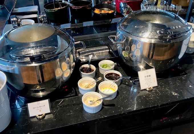 「コーンスープ」と「中華粥」