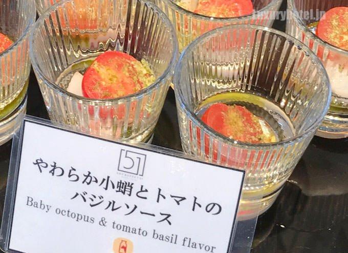 やわらか小蛸とトマトのバジルソース
