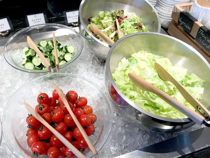 サラダ類 トマト キュウリ、キャベツなど