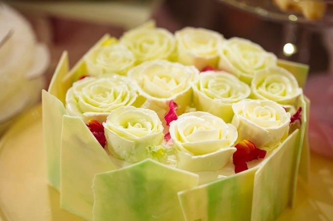 片思いは本気 メロンとマスカルポーネ花束クリームケーキ