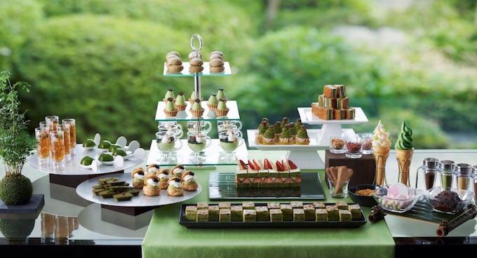 夏のスイーツブフェ「抹茶とほうじ茶の薫香」