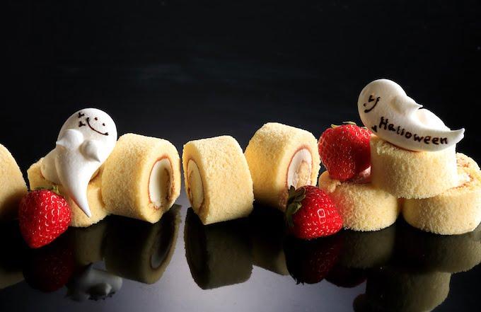 ホワイトチョコレートロールとおばけのメレンゲ
