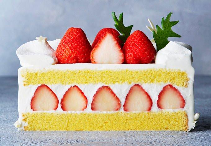 苺のショートケーキ 公式画像の断面図