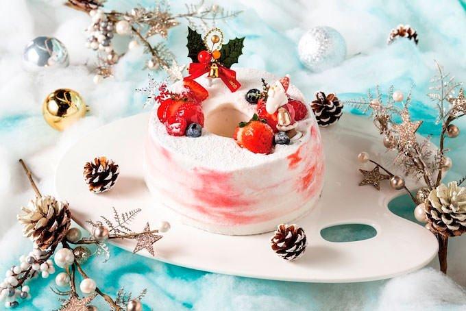 クリスマスシフォンケーキ