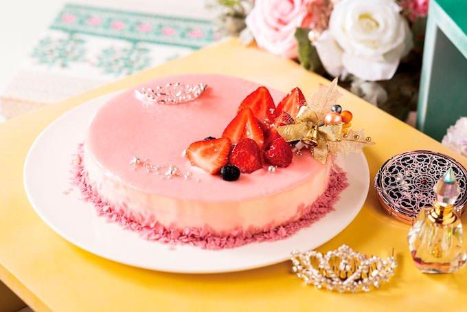 ピンクミラーケーキ