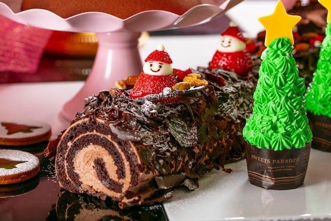 サンタを乗せて チョコレートブッシュドノエル