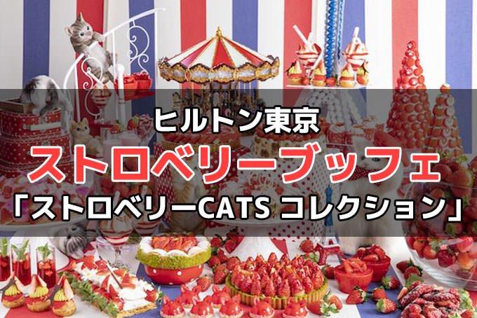 ヒルトン東京のストロベリーデザート「ストロベリーCATS コレクション」詳細!予約・料金・時間など