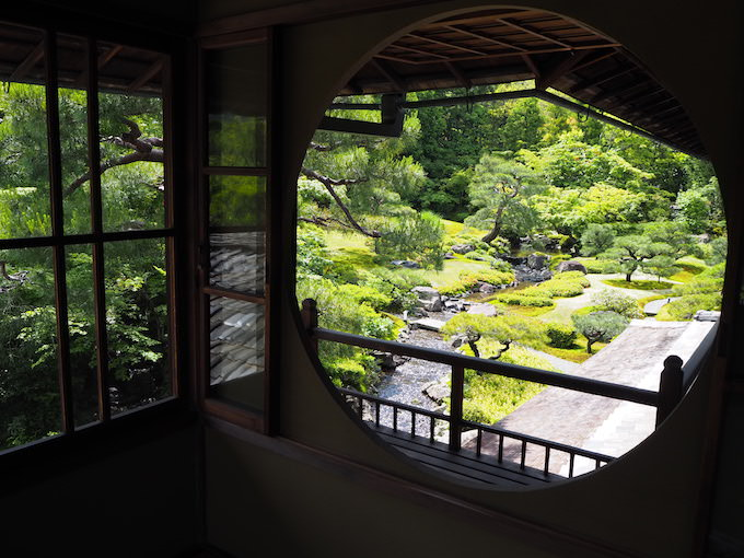 對龍山荘 庭園の様子
