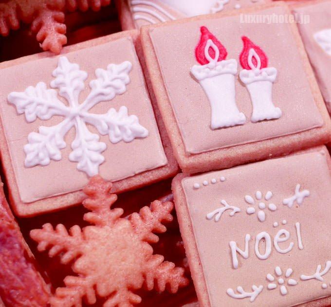 ピティヴィエ・ノエル トップの飾り付けはアイシングクッキー