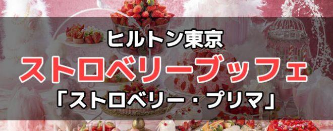 ヒルトン東京 いちごデザートビュッフェ『ストロベリー・プリマ』詳細!予約・料金・時間など