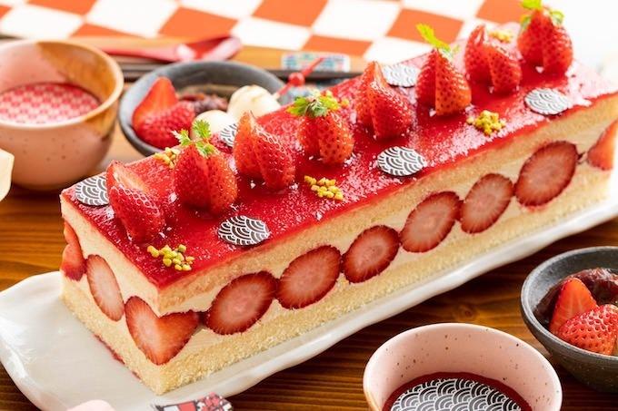 ほうじ茶風味の苺フレジェ